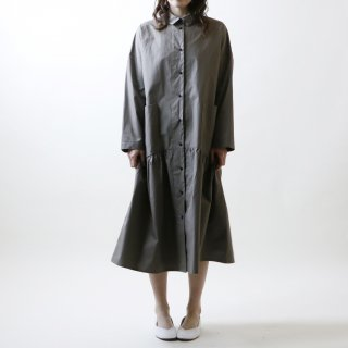 MAGALI   ハイカウントコットン・コート・ワンピース (grey)   ワンピース