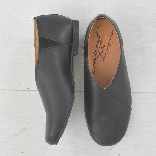 arome de muguet | Leather flat Adele (black) | シューズ