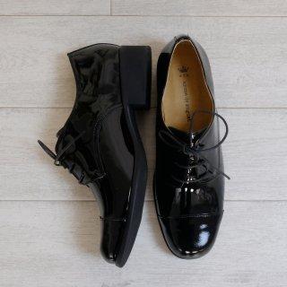 arome de muguet | レザーフラット ニコラ (enamel black) | 23.5cm