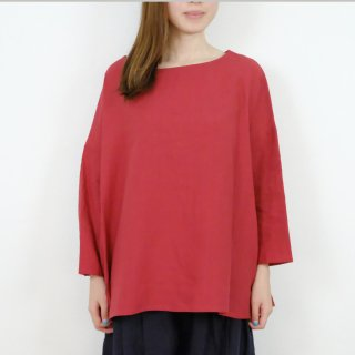 STAMP AND DIARY   ボックスプルオーバー (red)   トップス