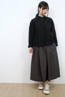 STAMP AND DIARY   ギャザースカート (チャコールチャ)   スカート