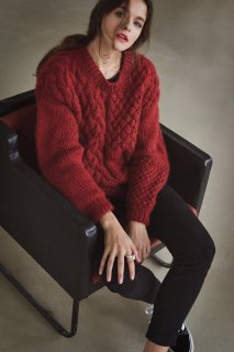 The Knotty Ones | HEARTBREAKER SWEATER (deepred) | ニットセーター