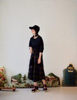STORAMA | Checked Bottondwn Skirt (brown) | スカート