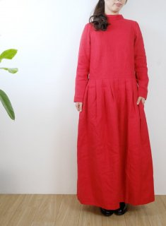 the last flower of the afternoon | 夕べの祈り one-piece dress (carmine) | ワンピース
