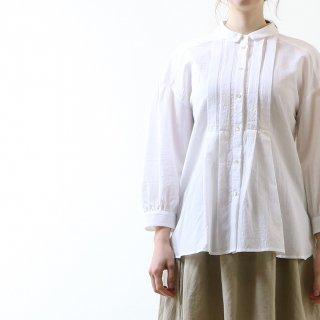 MAGALI | 東炊きコットンローン・ファーマー・タックブラウス (white) | トップス
