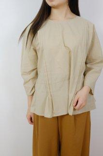 utilite | ピンタックブラウス (beige) | トップス