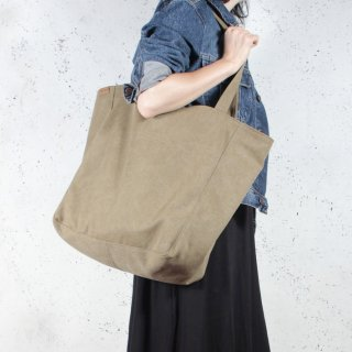 hairoo | LAZY CANVAS TOTE BAG (khaki) | トートバッグ