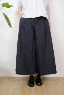 the last flower of the afternoon | 永き日の wide pants (墨黒) | ボトムス【レディース きれいめ シンプル おしゃれ】