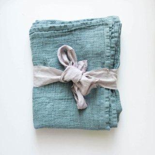 not PERFECT LINEN | LARGE LINEN WAFFLE BATH TOWEL (aqua green) | バスタオル