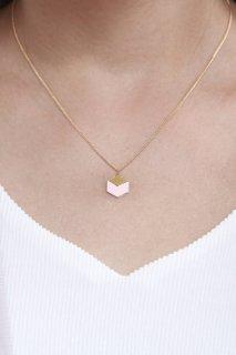 Shlomit Ofir | Cube Necklace (light rose) | ネックレス