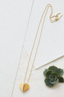 Shlomit Ofir | Origami Heart Necklace (gold) | ネックレス
