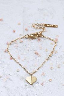 Shlomit Ofir | Tiny Origami Heart Bracelet (gold) | ブレスレット