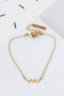 Shlomit Ofir | Tiny Zigzag Bracelet (gold) | ブレスレット