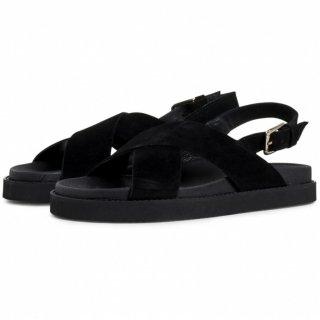 GARMENT PROJECT | Yodo (black/black suede) | 38サイズ/24cm【送料無料 北欧 デンマーク サンダル シンプル】