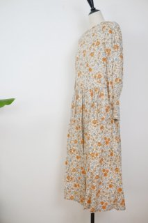 the last flower of the afternoon | 末摘花のgather one-piece dress | ワンピース【きれいめ オシャレ 花柄 春夏】