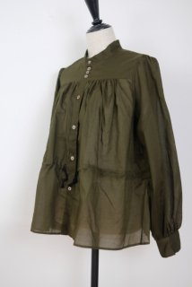 the last flower of the afternoon | 揺蕩いの drawstring blouse (khaki) | トップス