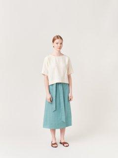 ARCHETYPE | Wrap Skirt (faded turquoise) | スカート Sサイズ【アーキタイプ 北欧 フィンランド リネン ボトムス】