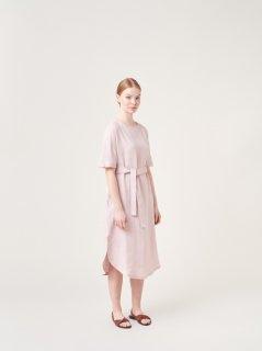 ARCHETYPE | T-shirt Dress with Belt (faded pink)  | ワンピース Sサイズ【アーキタイプ 北欧 フィンランド リネン ドレス】