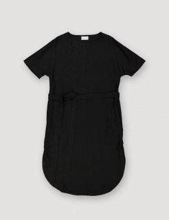 ARCHETYPE | T-shirt Dress with Belt (black)  | ワンピース Sサイズ【アーキタイプ 北欧 フィンランド リネン ドレス】