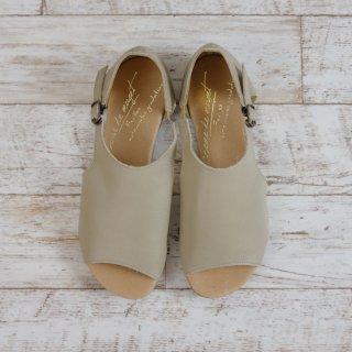 arome de muguet | レザーフラット ポーリー(beige) | 23cm【送料無料 レディース 歩きやすい 履きやすい ベージュ おしゃれ ナチュラル サンダル】