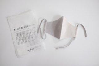 Tricote | バイカラーニットマスク 大人用 (light gray) | Mサイズ【オシャレ ギフト お出かけ】