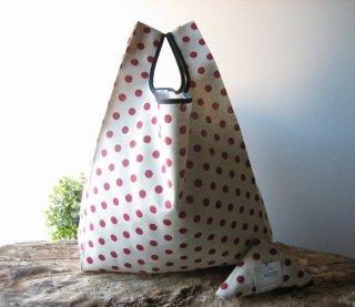【ネコポス送料無料】ATELIER SETTEMBRE | TOTE BAG (beige / red polka dots) | トートバッグ/ショッピングバッグ