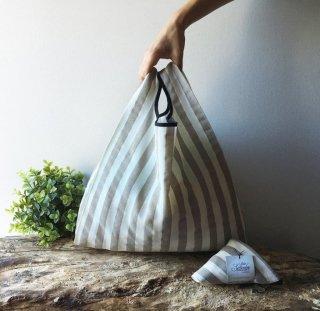 【ネコポス送料無料】ATELIER SETTEMBRE | TOTE BAG (light brown and white stripes) | トートバッグ/ショッピングバッグ
