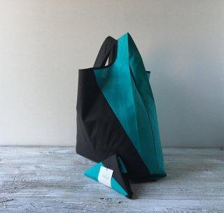 【ネコポス送料無料】ATELIER SETTEMBRE | TOTE BAG (black and light blue) | トートバッグ/ショッピングバッグ