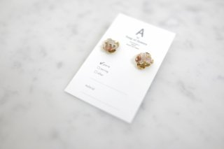A by song of flowers   driedflower×metal flower small (gold)   ピアス【アクセサリー ドライフラワー ハンドメイド ギフト】