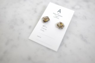 A by song of flowers   driedflower×metal flower small (silver)   ピアス【アクセサリー ドライフラワー ハンドメイド ギフト】