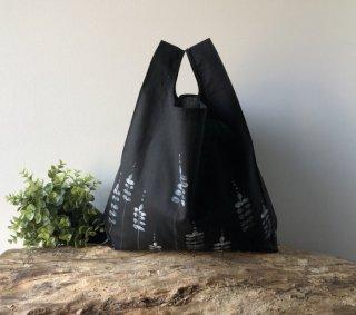 【ネコポス送料無料】ATELIER SETTEMBRE | HAND PAINTED BLACK TOTE BAG #1 | トートバッグ/ショッピングバッグ