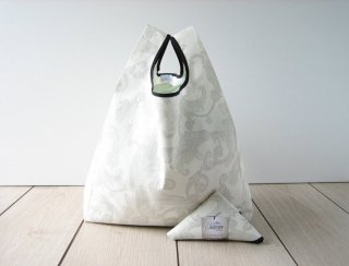 【ネコポス送料無料】ATELIER SETTEMBRE | DAMASK WHITE TOTE BAG | トートバッグ/ショッピングバッグ