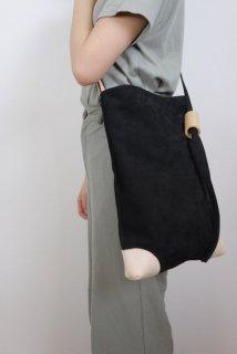 yuruku (ユルク) | Pipe Wood Shoulder Bag (black)  | バッグ【シンプル  かわいい ショルダーバッグ】