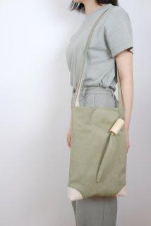 yuruku (ユルク) | Pipe Wood Shoulder Bag (gray)  | バッグ【シンプル  かわいい ショルダーバッグ】