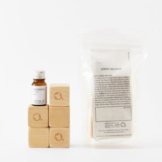 Cul de Sac | HIBA BLOCKS +HIBA WOOD OIL | ヒバブロック+ヒバ精油【カルデサック 消臭 抗菌 自然 】