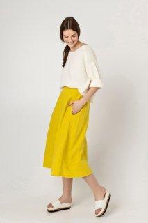 two LINEN | Linen skirt with pockets【リネン 麻 ナチュラル スカート】