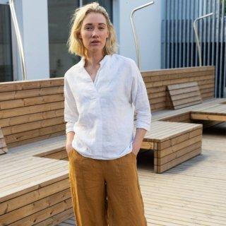 two LINEN | Natural linen pants【リネン 麻 ナチュラル パンツ】