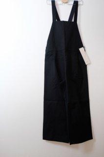 Cion | ハードコットンサロペット (ブラック) 【送料無料 オーバーオール オールインワン ボトムス つなぎ かわいい カジュアル】