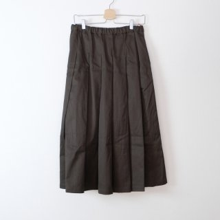 STAMP AND DIARY   タックプリーツスカート (brown)   ボトムス