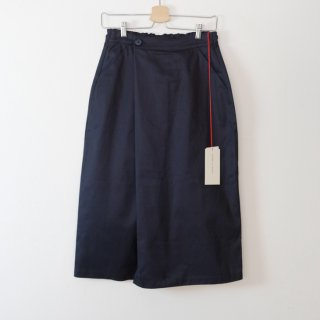 STAMP AND DIARY   ラップ風スカート (navy)   ボトムス