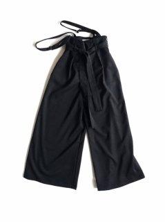 rikolekt | WOOL CHINO SUS PANTS (black) | ボトムス【送料無料 リコレクト シンプル おしゃれ サスペンダーパンツ】
