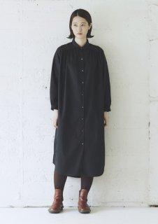 Cion | コットンワイドロングシャツ (ブラック) | トップス【送料無料 ワンピース ロングシャツ コットン】