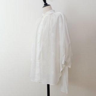 STAMP AND DIARY | シャツカラーギャザーチュニック (white) | トップス