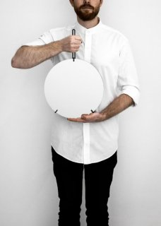 MOEBE   WALL MIRROR (black)   30cm   ウォールミラー/鏡
