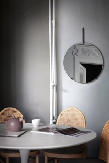 MOEBE   WALL MIRROR (black)   50cm   ウォールミラー/鏡【北欧 ムーベ リビング インテリア】