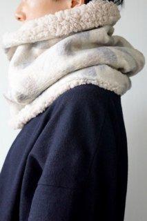 sneeuw (スニュウ) | ボアネックウォーマー (beige) | マフラー【ユニセックス かわいい 冬】