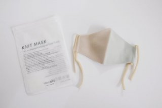 Tricote | バイカラーニットマスク 大人用 (mint) | Lサイズ【オシャレ ギフト お出かけ】
