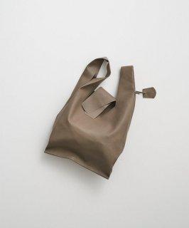 REN | ゴートベロア・レジブクロミニ (smoke grey) | バッグ【レン 無地 シンプル レザーバッグ】
