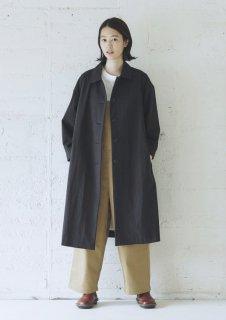 Cion | コットン混オーバーコート (ブラック) | アウター【送料無料 無地 シンプル ナチュラル】