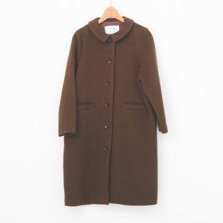 utilite | 衿付きコート (brown) | アウター【ユティリテ 無地 シンプル ナチュラル 裏地ドット】